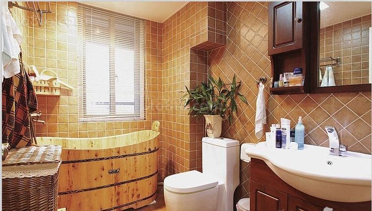 热门小户型卫生间美式装修欣赏图片