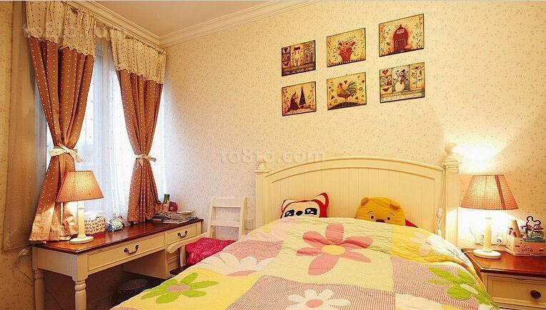 精美面积81平小户型儿童房美式装修图片大全