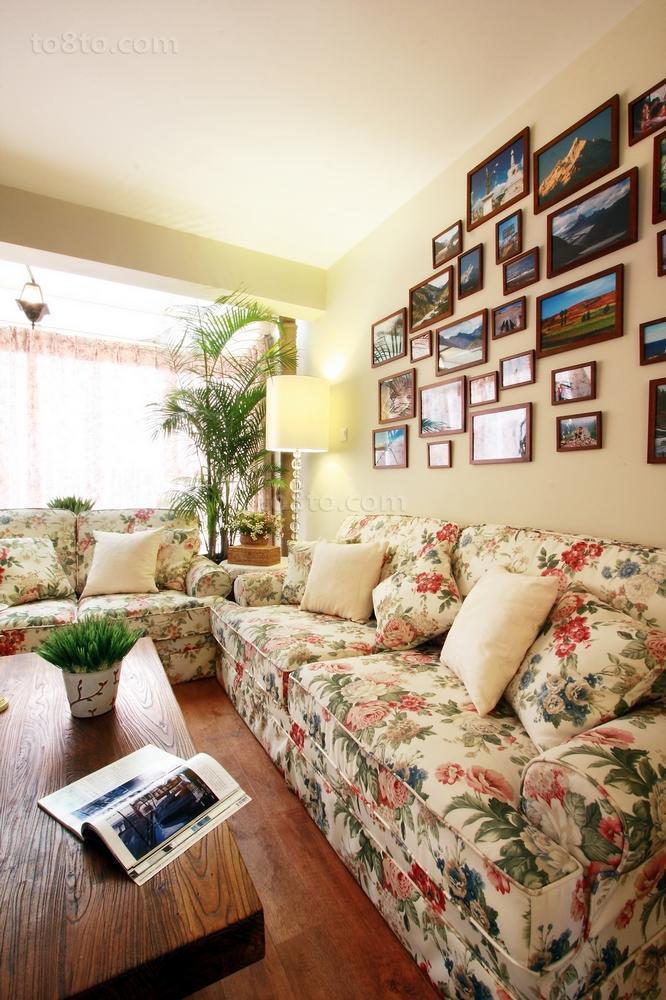 精美面积86平小户型客厅田园装修欣赏图片大全