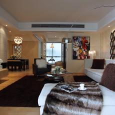 面积84平现代二居客厅装饰图片欣赏