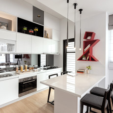 2018面积71平现代二居餐厅装修图片大全