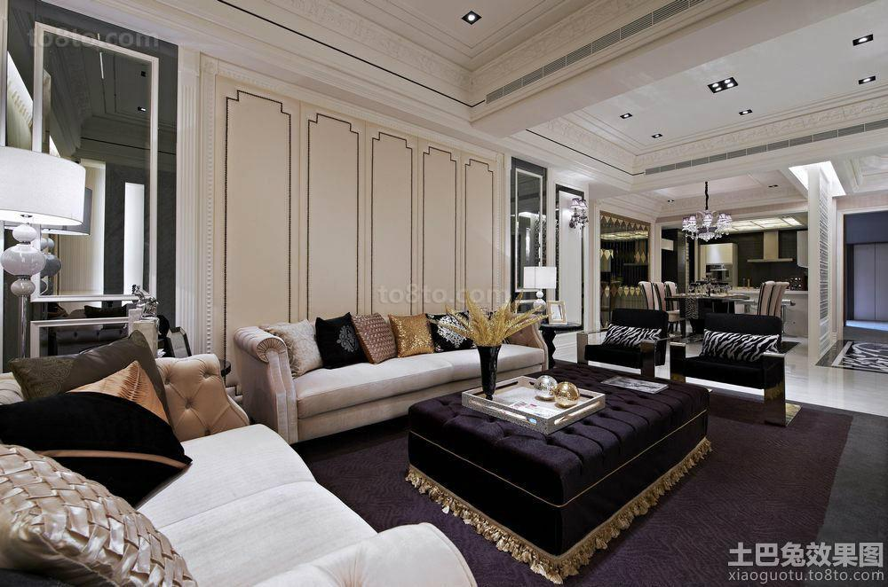 巴洛克式家装客厅效果图片