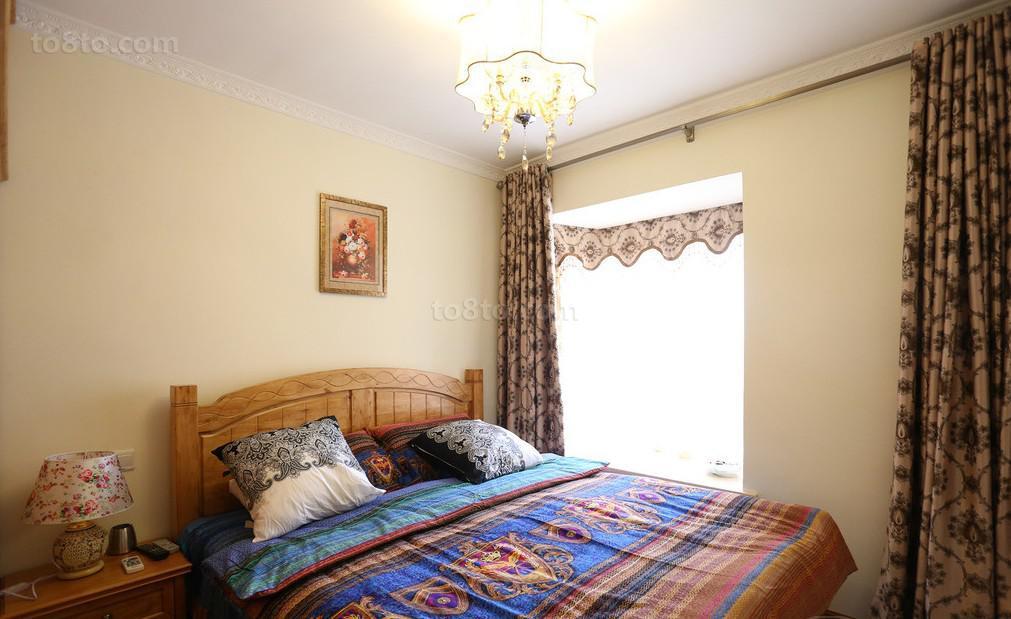 面积81平小户型卧室中式装修效果图片