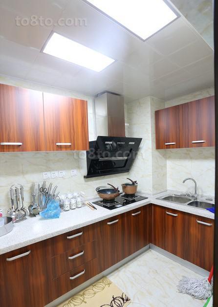 精选面积90平小户型厨房中式装修设计效果图片