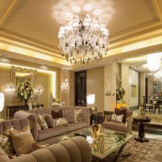 精美面积85平欧式二居客厅装修欣赏图