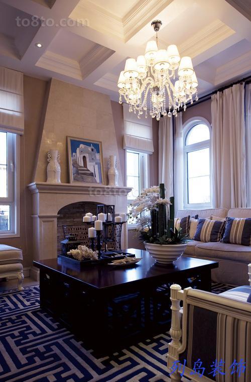 精美一居客厅欧式装修效果图片欣赏