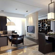 2018精选78平方二居客厅现代实景图片大全