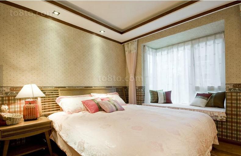 面积88平小户型卧室中式装修实景图