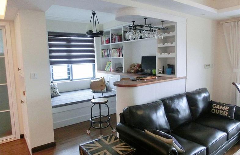 面积78平小户型书房欧式装修实景图