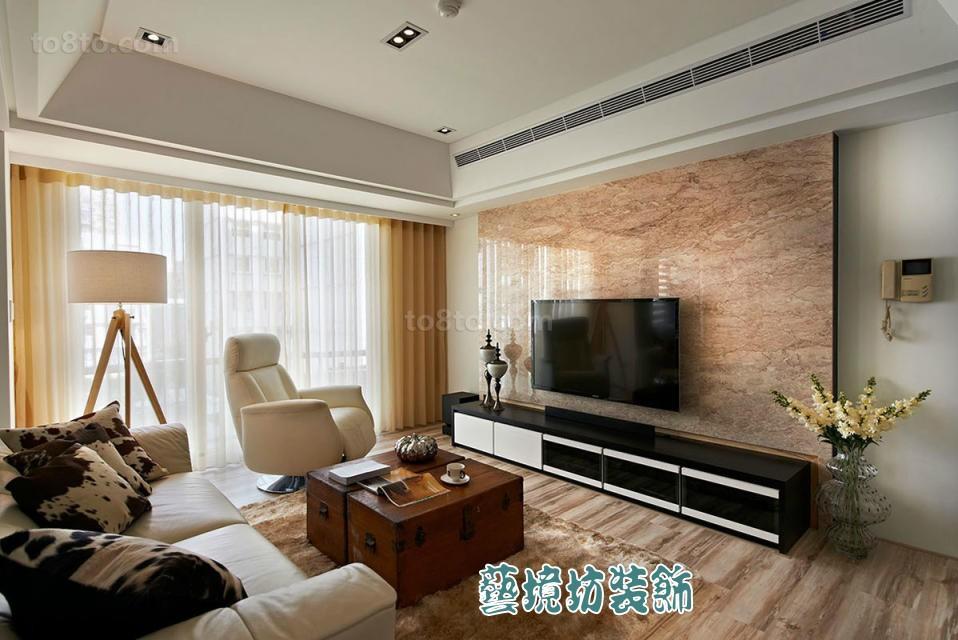 时尚家居大理石电视背景墙装修图片欣赏
