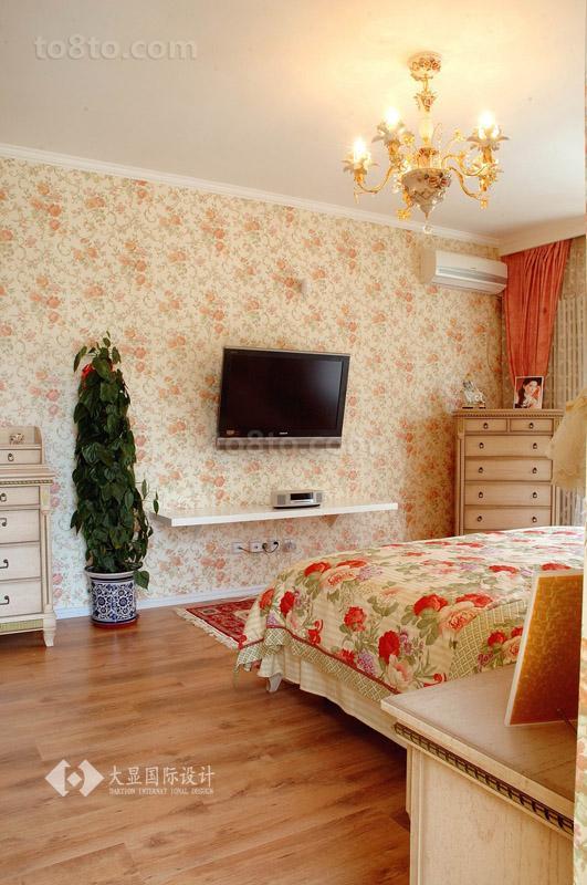 面积88平小户型卧室田园装修设计效果图片欣赏