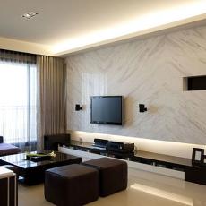 2018一居客厅日式装修设计效果图