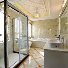 热门欧式小户型卫生间装修欣赏图片
