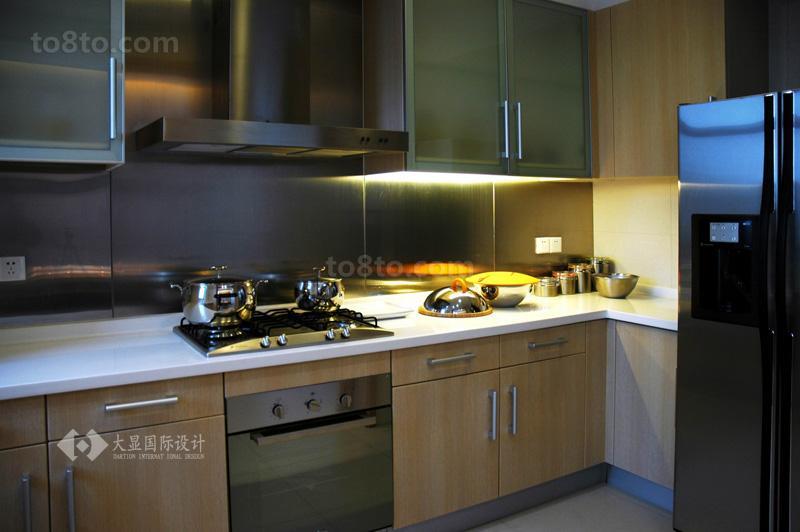 热门面积84平小户型厨房简约装饰图片大全
