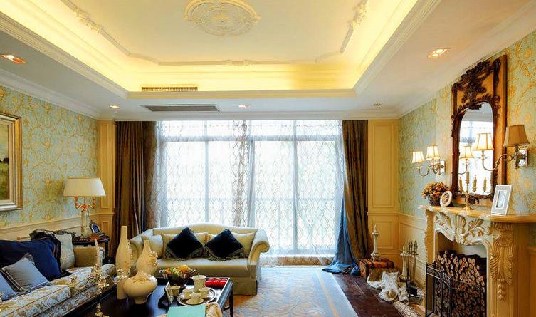 热门一居客厅欧式装修欣赏图片大全