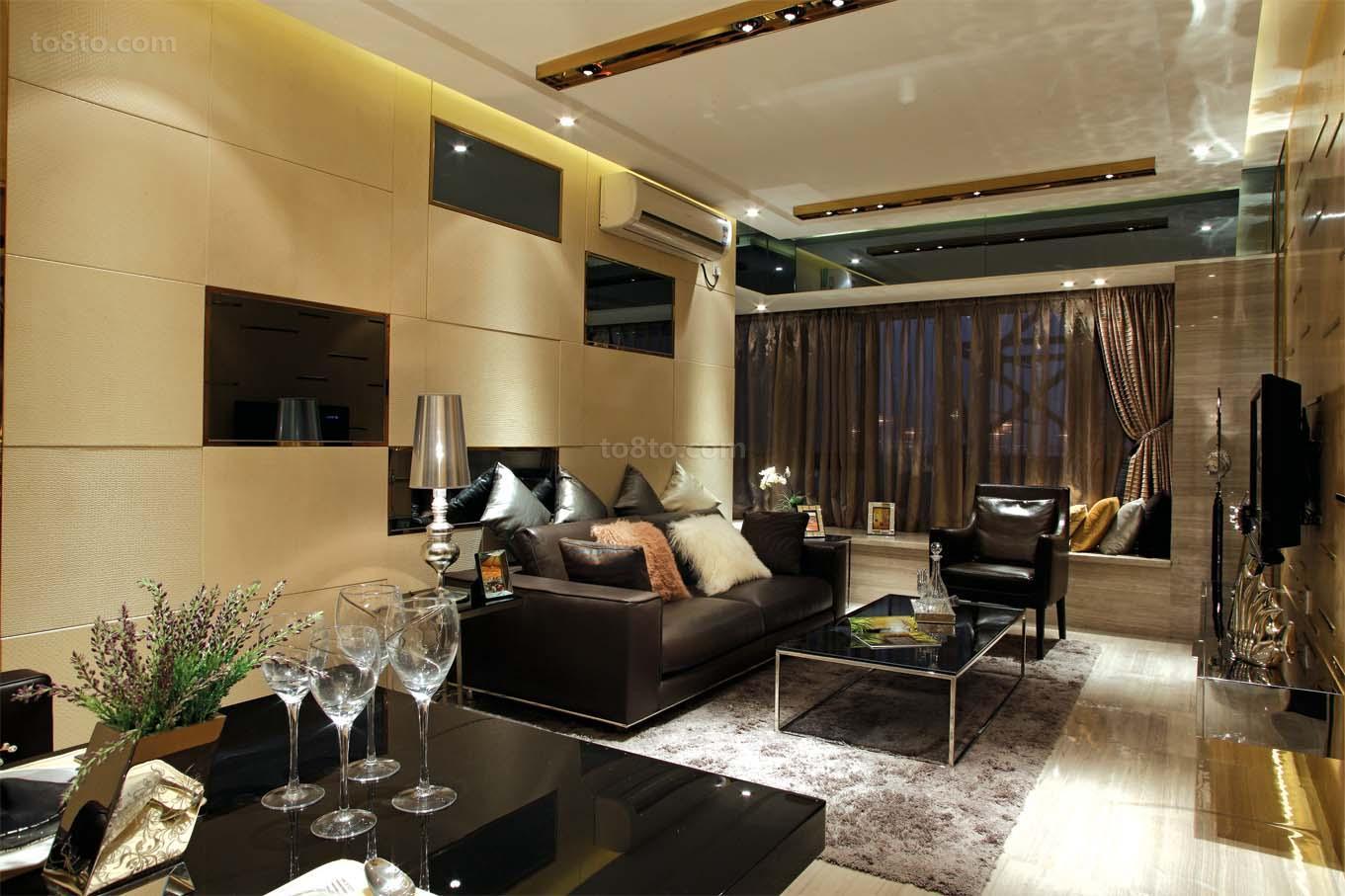 精美小户型客厅新古典装饰图