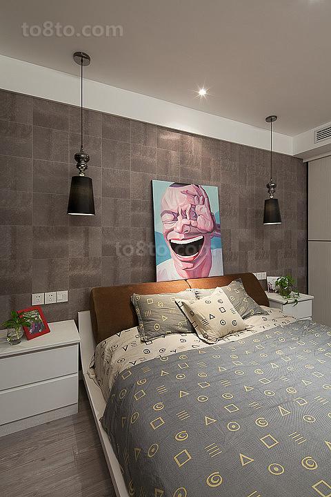 83平米现代小户型卧室装修欣赏图