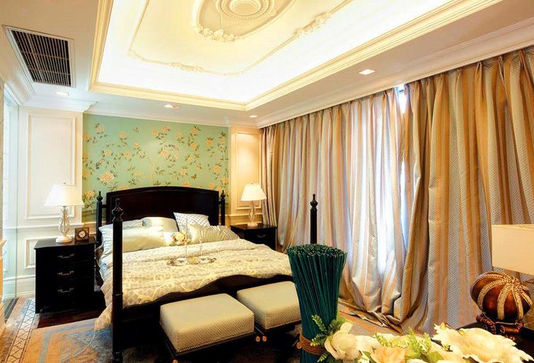 精美74平米欧式小户型卧室实景图片大全