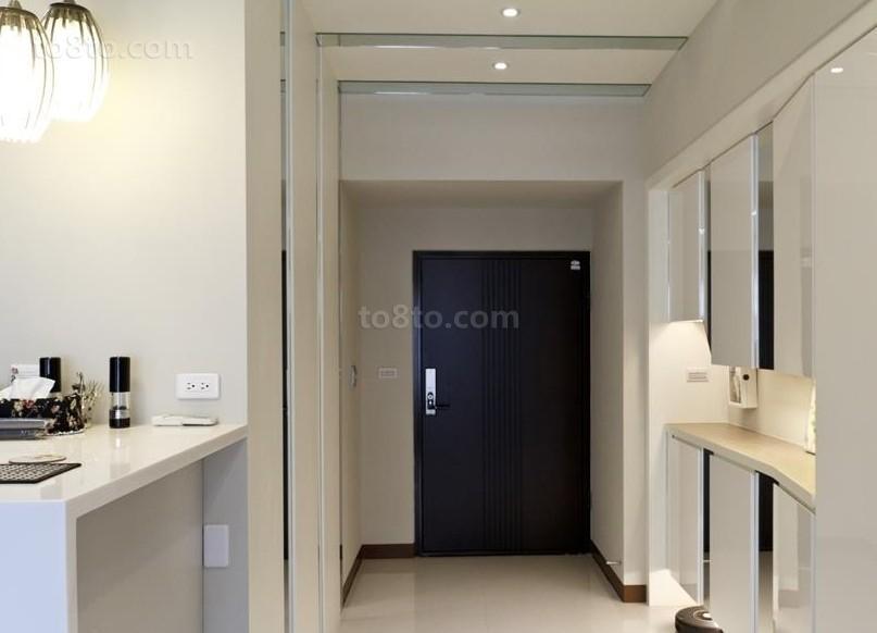 热门面积78平小户型玄关简约装饰图片欣赏