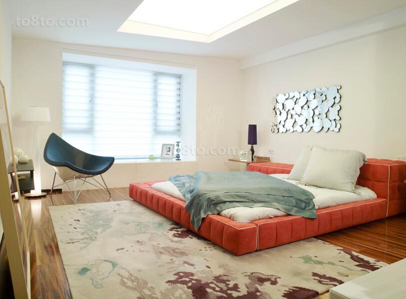 2018面积87平小户型卧室简约装修实景图片