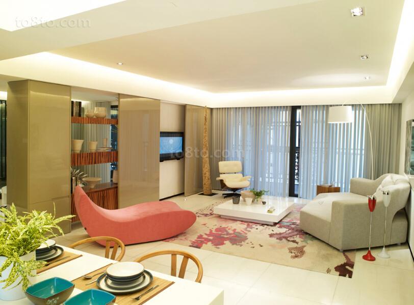 精美面积88平小户型客厅现代装修图片