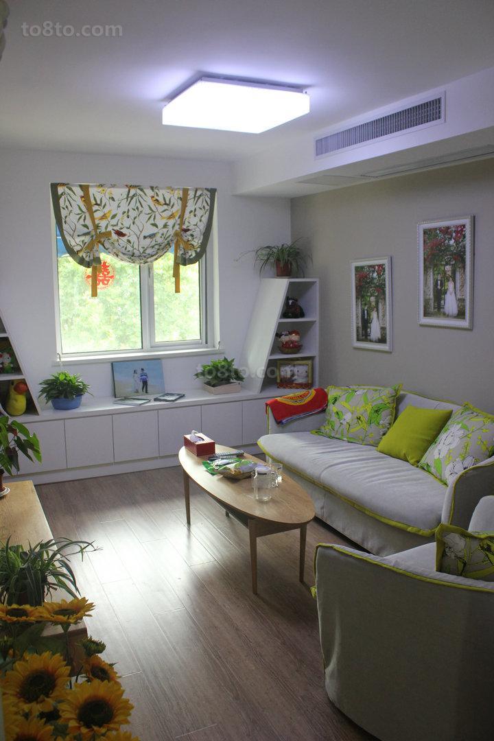 面积74平小户型休闲区简约装饰图片欣赏