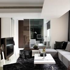 面积87平现代二居客厅装修欣赏图