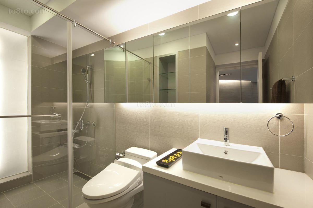 精选80平米简约小户型卫生间装修设计效果图片大全