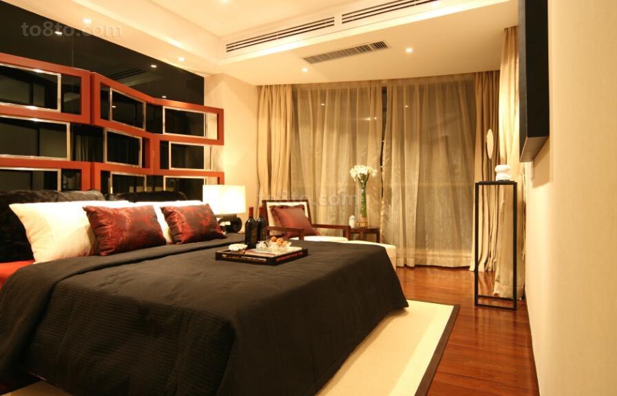 精美面积72平小户型卧室现代装饰图