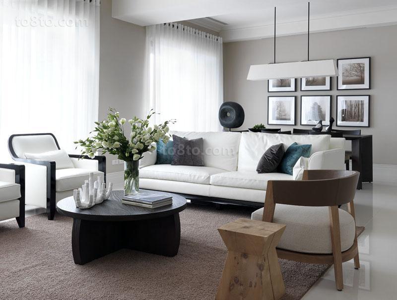 面积85平小户型客厅现代装修欣赏图片大全