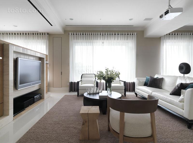 面积80平小户型客厅现代装修欣赏图片大全