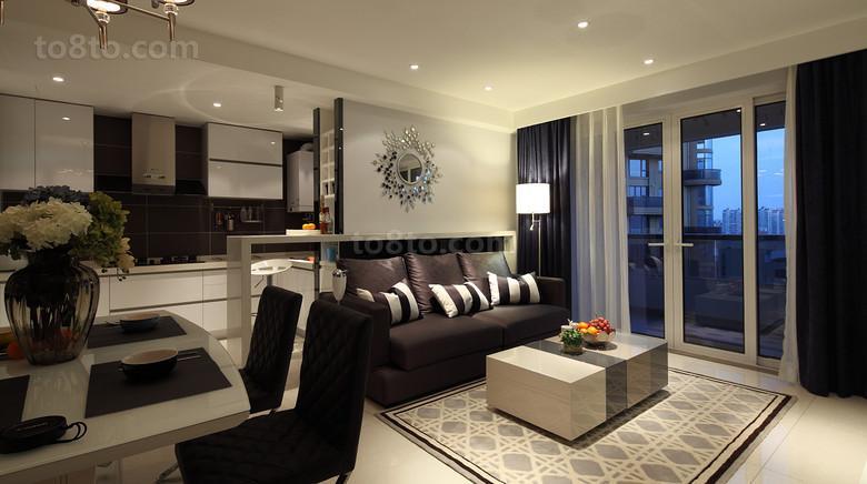 精美面积86平小户型客厅现代装修实景图片