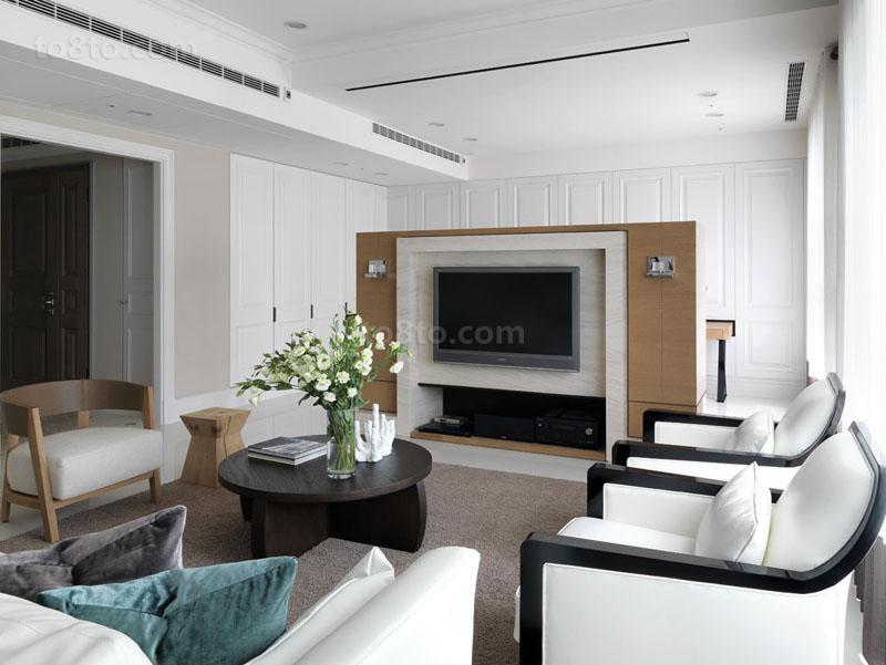 精选83平米现代小户型休闲区装饰图片大全