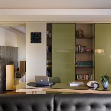 现代风格书房书柜装修效果图大全