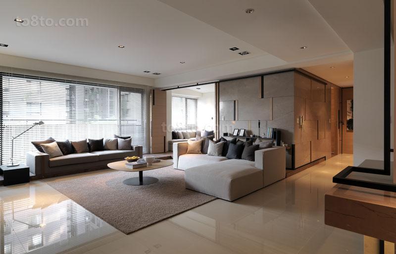 2018面积82平小户型客厅简约设计效果图