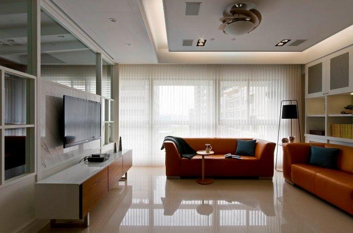 现代简约风格客厅吊顶装修设计效果图