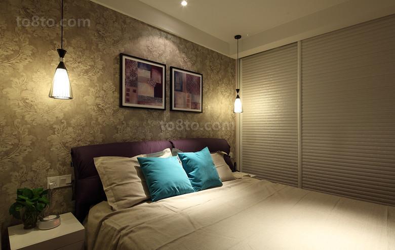 精美面积88平小户型卧室现代效果图片欣赏