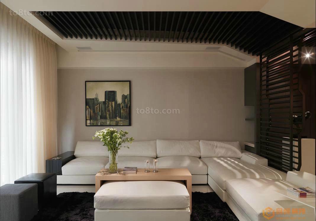 83平米简约小户型客厅装修设计效果图片大全