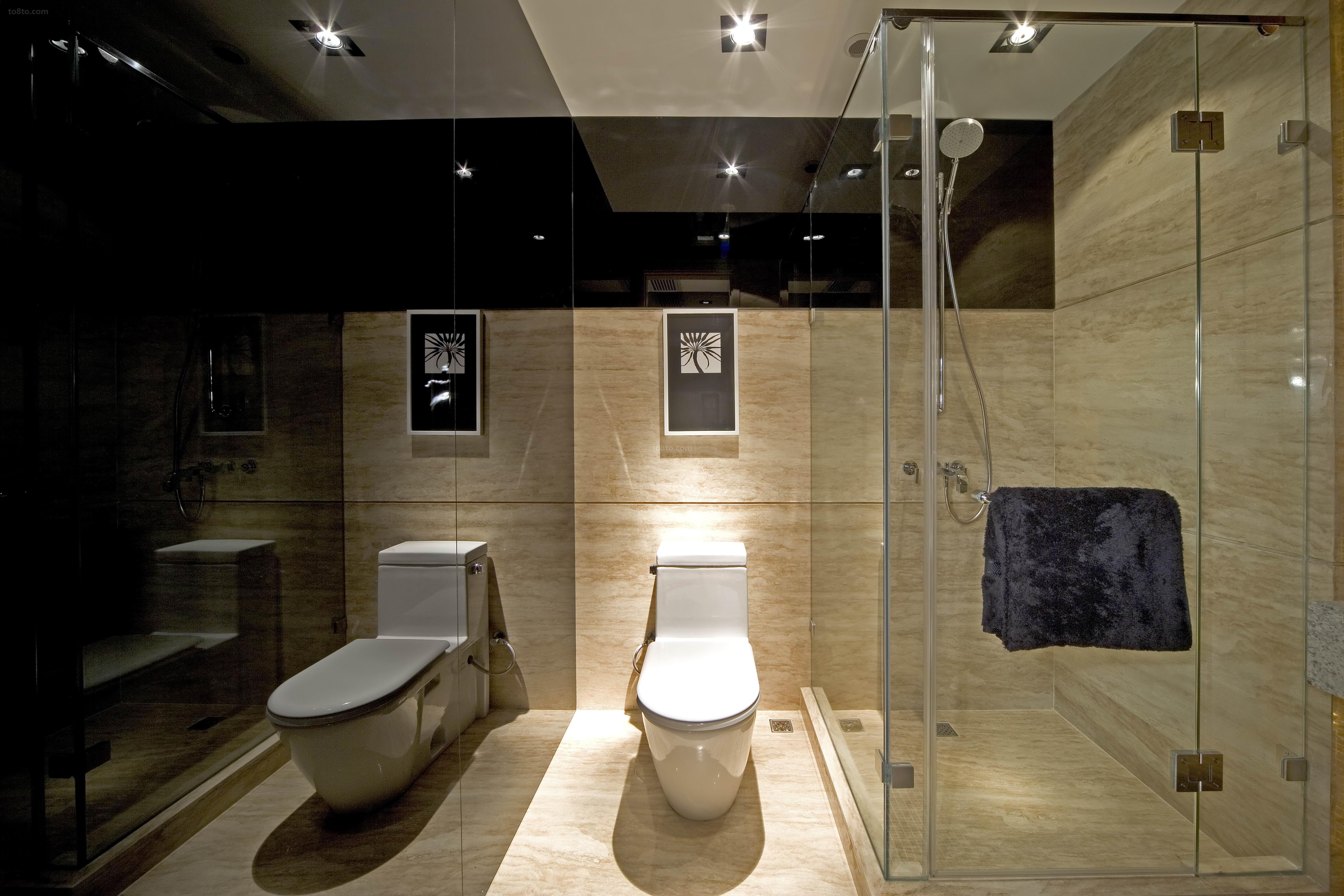 现代卫生间装修风格效果图