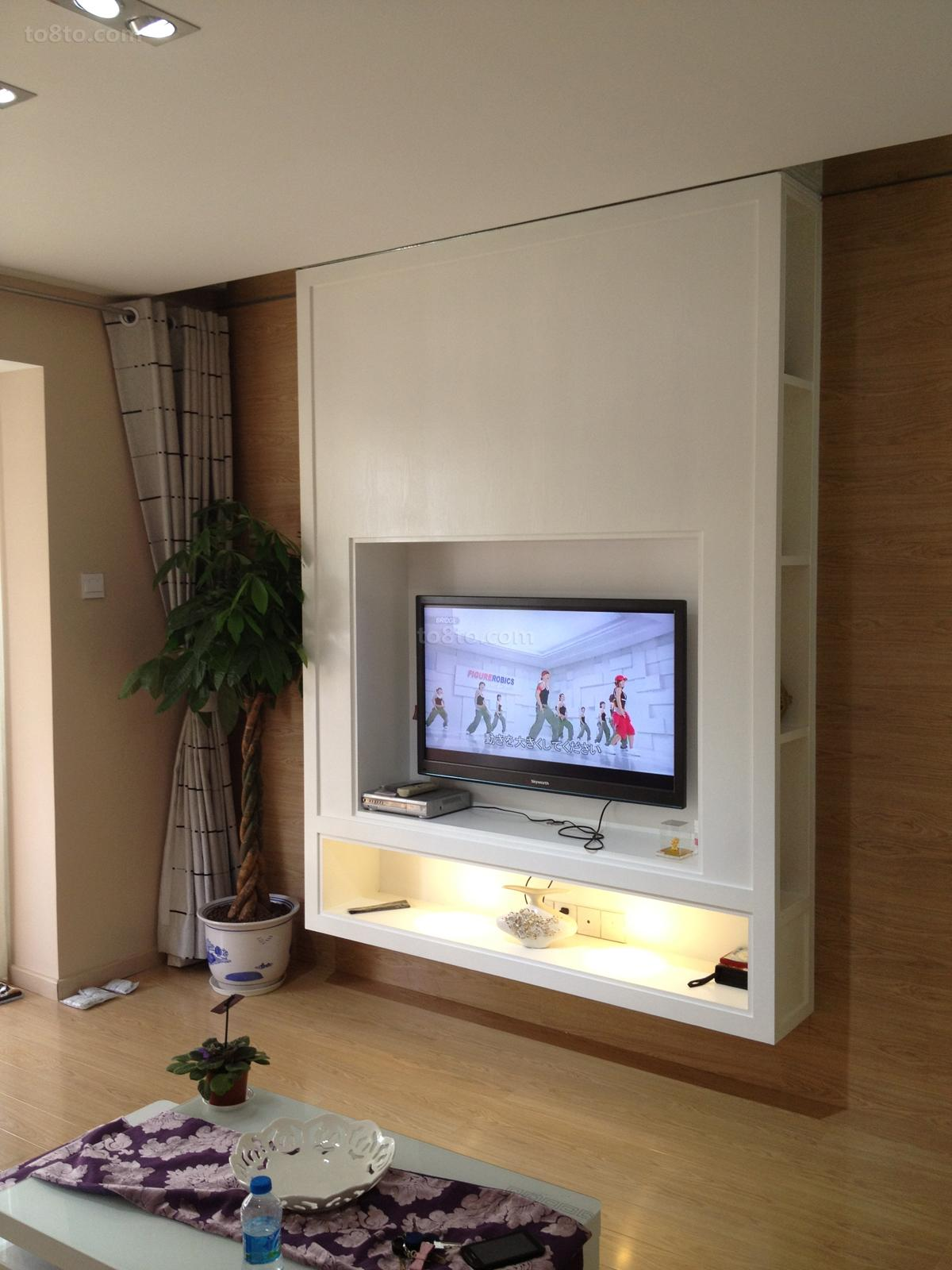 简约风格室内电视柜效果图