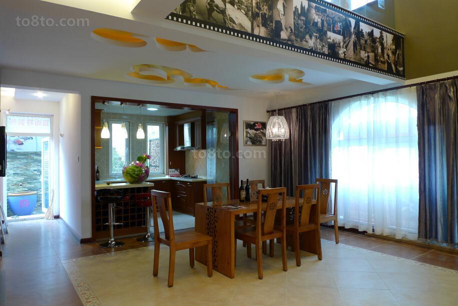 东南亚风格豪华餐厅设计图片