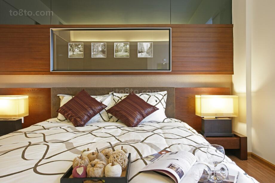 现代中式风格卧室背景墙设计