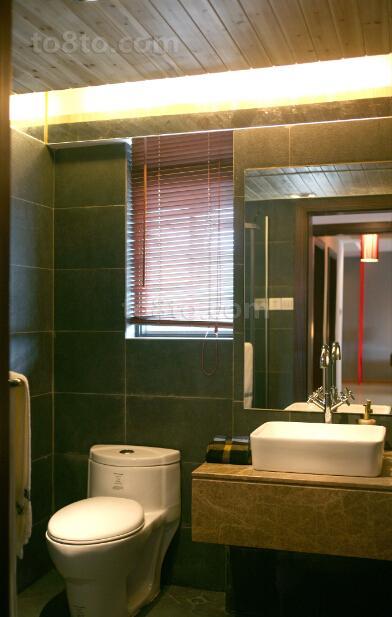 中式风格小卫生间装修效果图