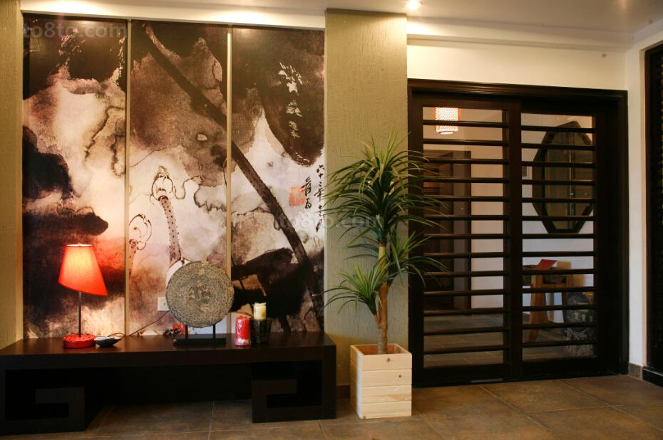 中式风格室内装饰画装修效果图
