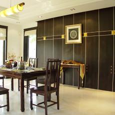 中式风格豪华别墅餐厅设计效果图