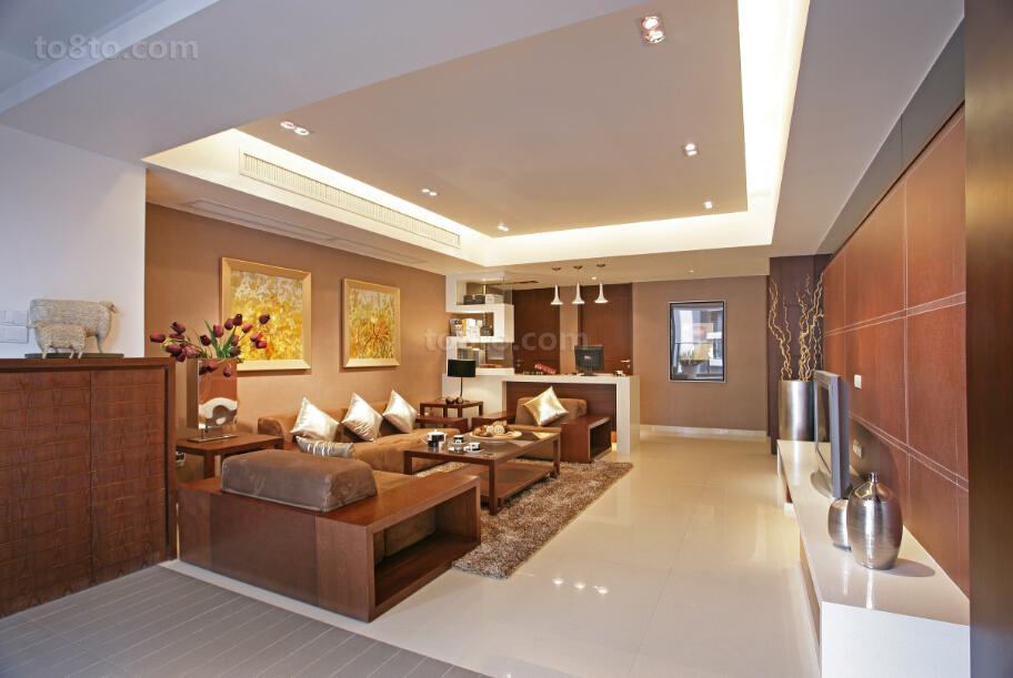 现代中式风格客厅装修图片大全
