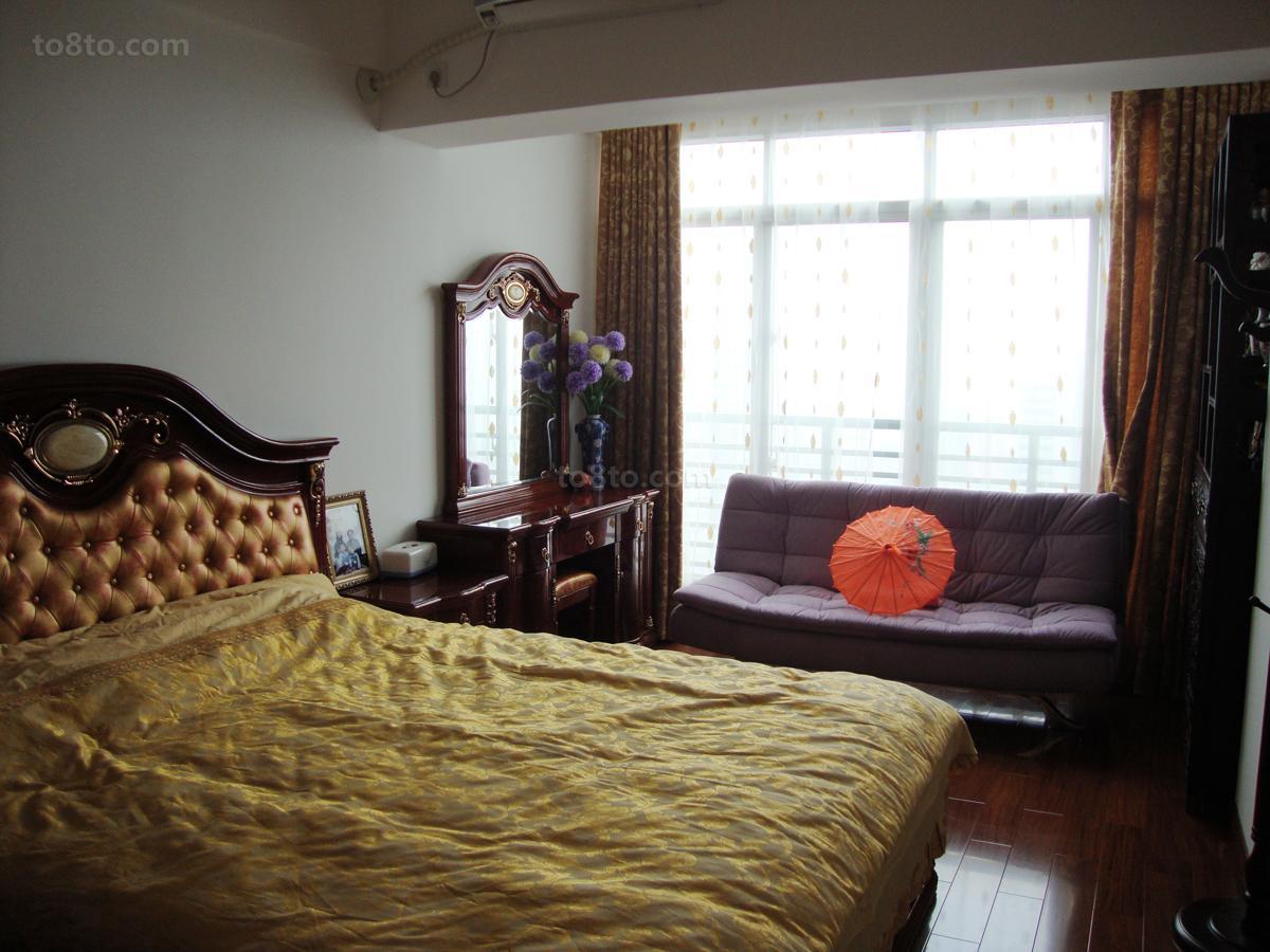 现代中式风格卧室装修图片
