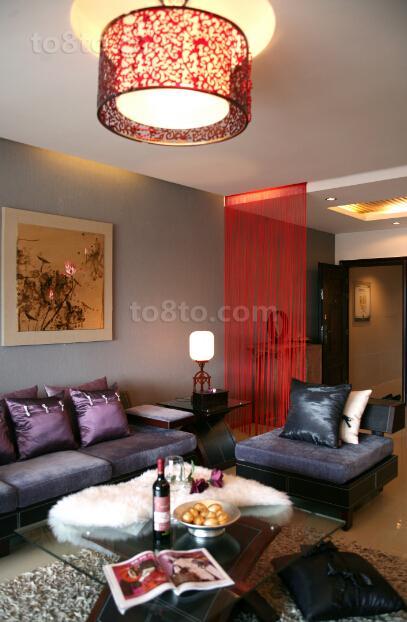 中式风格客厅隔断设计图片