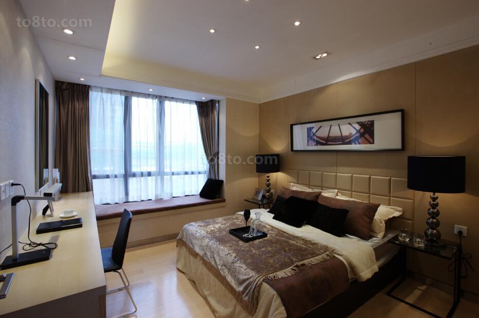 现代四居室卧室设计装修效果图