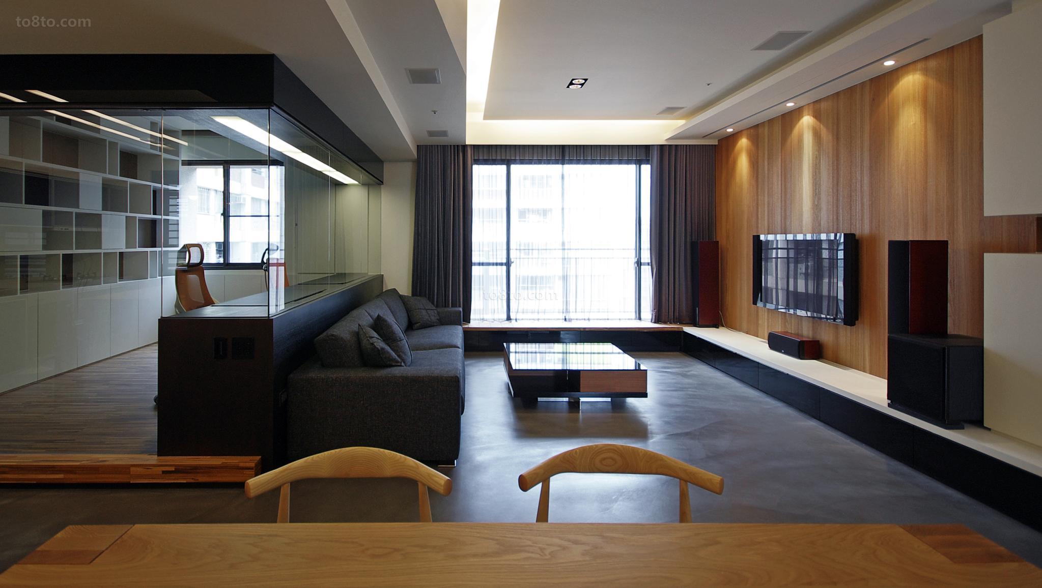 72平米现代小户型客厅装修图片